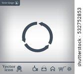 circular arrows vector icon | Shutterstock .eps vector #532752853