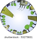 global world as closed...   Shutterstock .eps vector #53275831