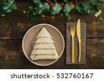 christmas place setting with... | Shutterstock . vector #532760167