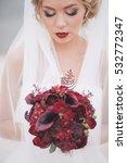beautiful bride in wedding day...   Shutterstock . vector #532772347