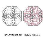 vector labyrinth. maze  ... | Shutterstock .eps vector #532778113