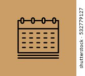 calendar icon. flat design