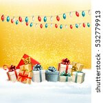 christmas presents with a... | Shutterstock .eps vector #532779913