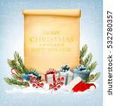 holiday christmas background... | Shutterstock .eps vector #532780357