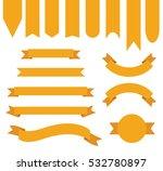 orange ribbon banner collection