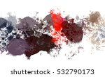 colorful splashed paint... | Shutterstock . vector #532790173