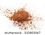 pile cocoa powder isolated on... | Shutterstock . vector #532803367