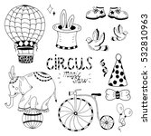 circus elements coloring set... | Shutterstock .eps vector #532810963