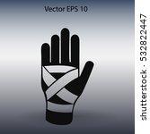 hand bandaging vector... | Shutterstock .eps vector #532822447