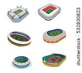 football stadium 3d icon. | Shutterstock .eps vector #532830823