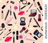 makeup  perfume  cosmetics...   Shutterstock . vector #532832623