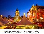Stock photo berlin christmas market gendarmenmarkt 532840297