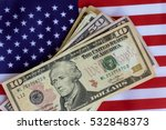 american flag and money...