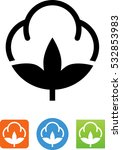 cotton fiber icon | Shutterstock .eps vector #532853983