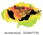 malaysia. country circuit.... | Shutterstock .eps vector #532857733