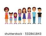 cartoon young people smiling... | Shutterstock .eps vector #532861843