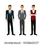 three men businessman team work | Shutterstock .eps vector #532863217