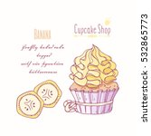 hand drawn cupcake with doodle...   Shutterstock .eps vector #532865773