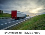 truck driving on the highway... | Shutterstock . vector #532867897