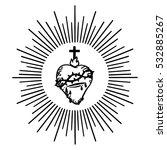 sacred heart of jesus. isolated ... | Shutterstock .eps vector #532885267