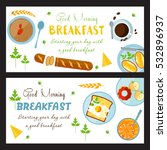 vector breakfast poster. food... | Shutterstock .eps vector #532896937