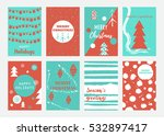 vector set cards with christmas ...   Shutterstock .eps vector #532897417