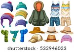 winter and summer clothes... | Shutterstock .eps vector #532946023