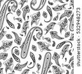 india seamless paisley pattern  ... | Shutterstock .eps vector #532948273