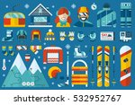 winter sports icon set. skiing  ... | Shutterstock .eps vector #532952767