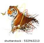 Tiger Splash With Light Trails...