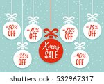 christmas balls sale. xmas sale ... | Shutterstock .eps vector #532967317
