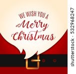 santa claus message banner. red ... | Shutterstock .eps vector #532968247