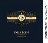 monogram design elements ... | Shutterstock .eps vector #532968697