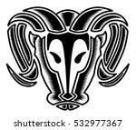 bulls head | Shutterstock .eps vector #532977367