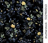 seamless floral pattern with... | Shutterstock .eps vector #532983013