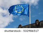 The Flag Of European Union In...