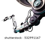 robotic arm 3d illustration... | Shutterstock . vector #532991167