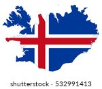 vector map iceland country on... | Shutterstock .eps vector #532991413