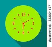 a clock face vector icon . six... | Shutterstock .eps vector #533004637