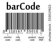 decoding ean 13 barcode  name... | Shutterstock .eps vector #533019823