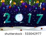 happy new year 2017 holiday... | Shutterstock .eps vector #533042977