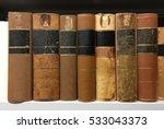 Old Books On Shelves In Public...