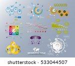 set of business infographics ... | Shutterstock .eps vector #533044507