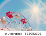 close up ferris wheel in the... | Shutterstock . vector #533053303