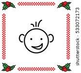 web line icon. smiling child ...