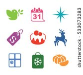 christmas icons | Shutterstock .eps vector #533073283