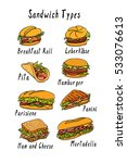 vector visual guide of sandwich ... | Shutterstock .eps vector #533076613