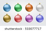 glass christmas  new year toy... | Shutterstock .eps vector #533077717