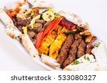 mixed grilled meat platter and... | Shutterstock . vector #533080327