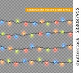 christmas lights isolated... | Shutterstock .eps vector #533087953